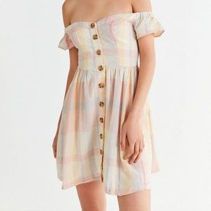 NWT Urban Outfitters Amelie Off The Shoulder Dress
